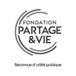 Logo Fondation Partage & Vie - Client groupe de musique Marie Jeanne Swing